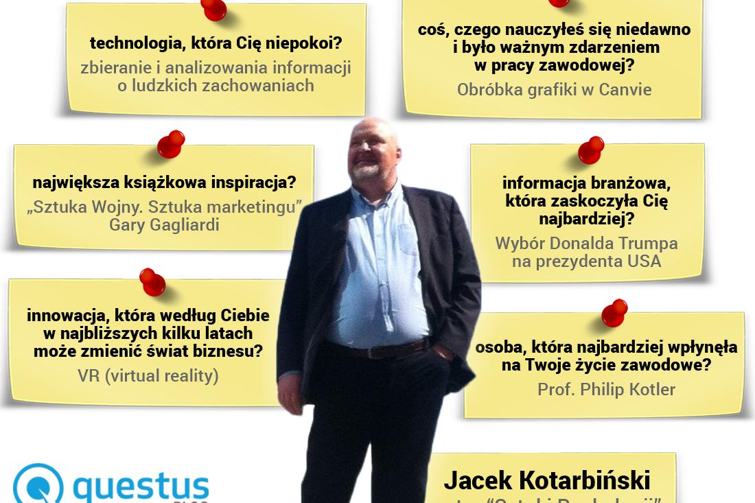 "Jacek Kotarbiński - autor bestsellerowej książki ""Sztuka Rynkologii"", bloger, marketer, wykładowca."