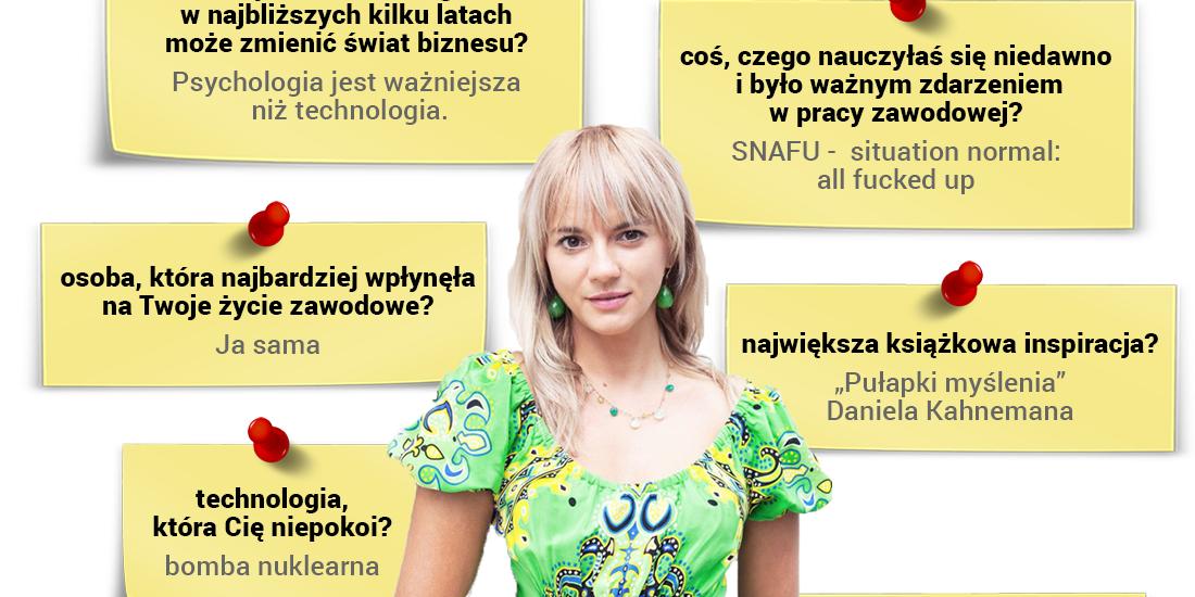 Julia Izmałkowa - psycholog, założycielka i CEO firmy Izmałkowa Consulting