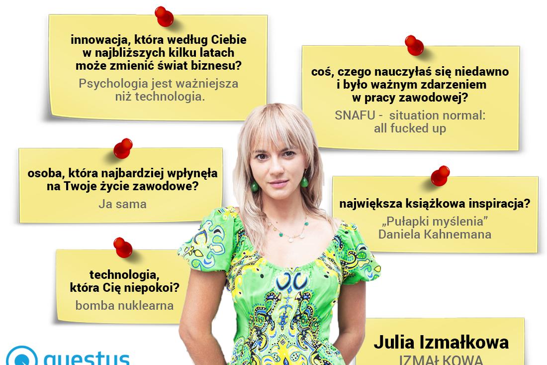 Julia Izmałkowa - psycholog, założycielka iCEO firmy Izmałkowa Consulting