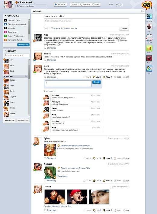 Projekt GG.pl - jedyna mierna kopia Facebooka