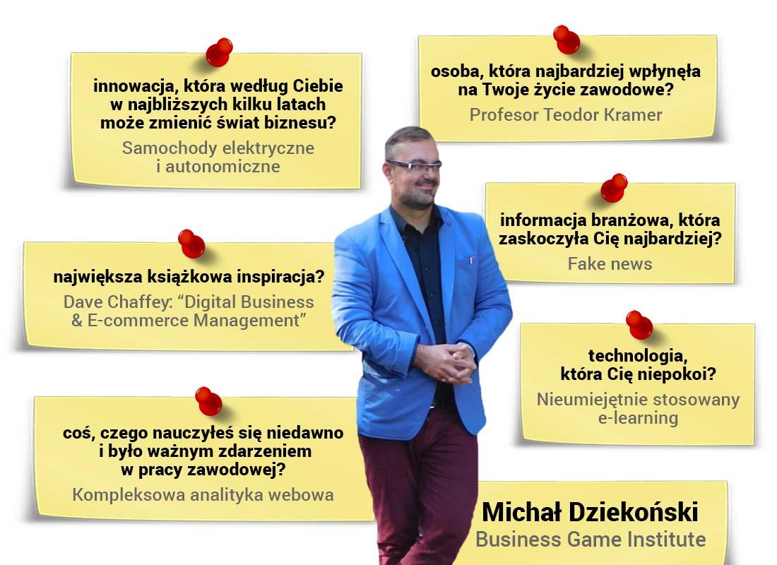Michał Dziekoński - wywiad ztwórcą planów istrategii marketingowych