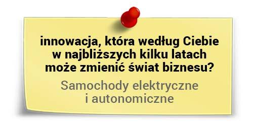 Michał Dziekoński oinnowacjach - autonomiczne samochody