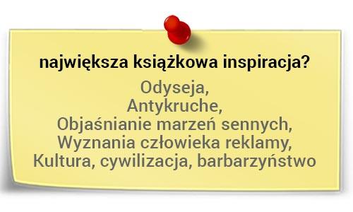 Marek Staniszewski - największa inspiracja książkowa