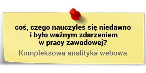 Michał Dziekoński onauce - kompleksowa analityka webowa