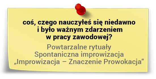Marek Staniszewski onauce - spontaniczna improwizacja