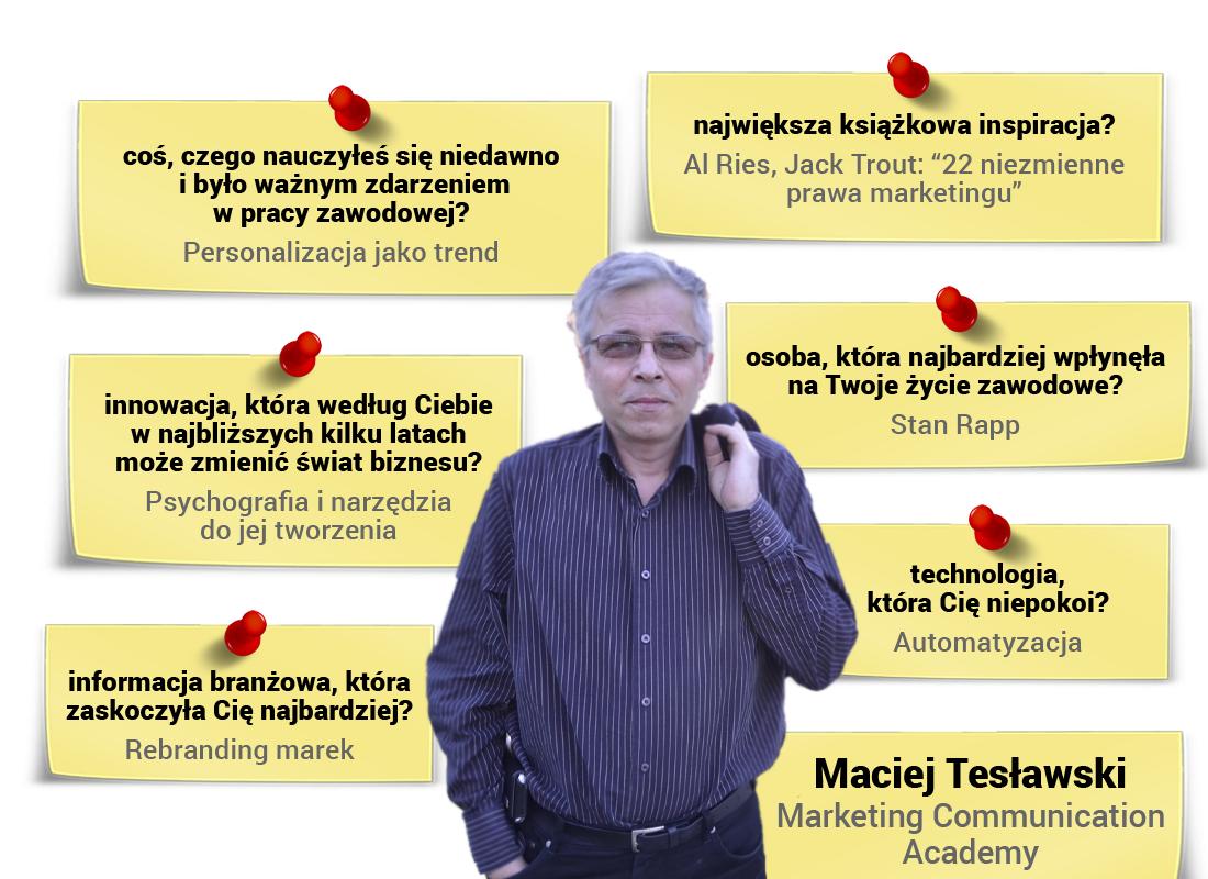Maciej Tesławski - wywiad zautorem książek STRATEGIA MARKETINGOWA iKONSUMENT WIERNY JAK PIES