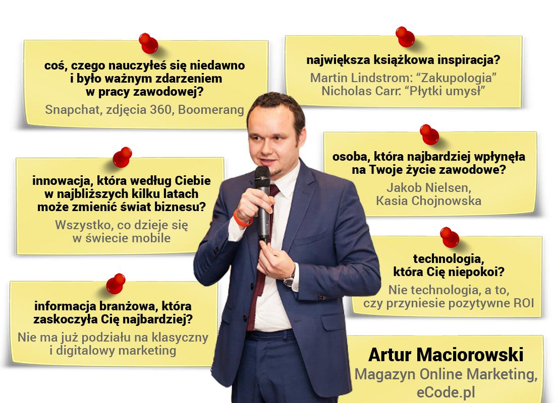 Artur Maciorowski - redaktor Magazynu Online Marketing iwłaściciel eCode