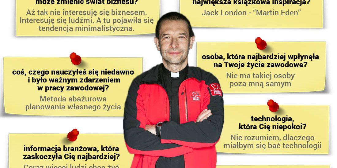 Ks. Jacek Stryczek - prezes Stowarzyszenia WIOSNA, twórca Szlachetnej Paczki