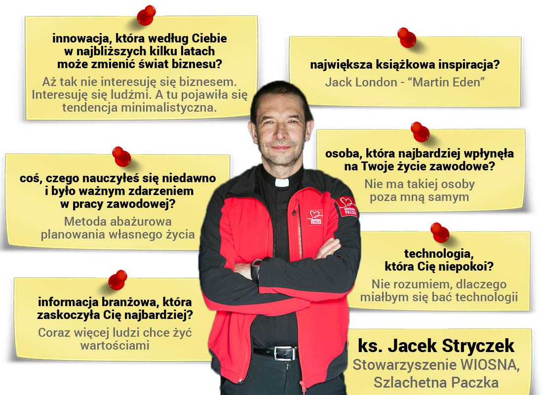 Ks. Jacek Stryczek - ekspert wobszarze reklamy, marketingu, HR, PR, zarządzania