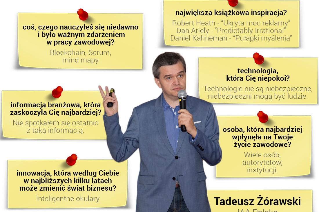 Tadeusz Żórawski - specjalista wdziedzinie planowania mediów ianaliz reakcji konsumentów