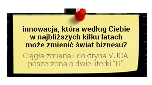 Szymon Midera oinnowacjach: zmiany idoktryna VUCA