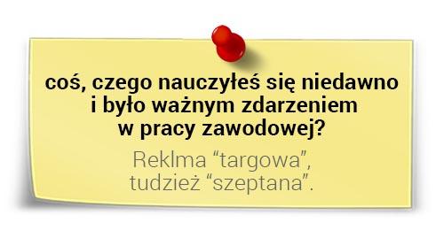 Jarosław Spychała onauce: reklama targowa itudzież szeptana