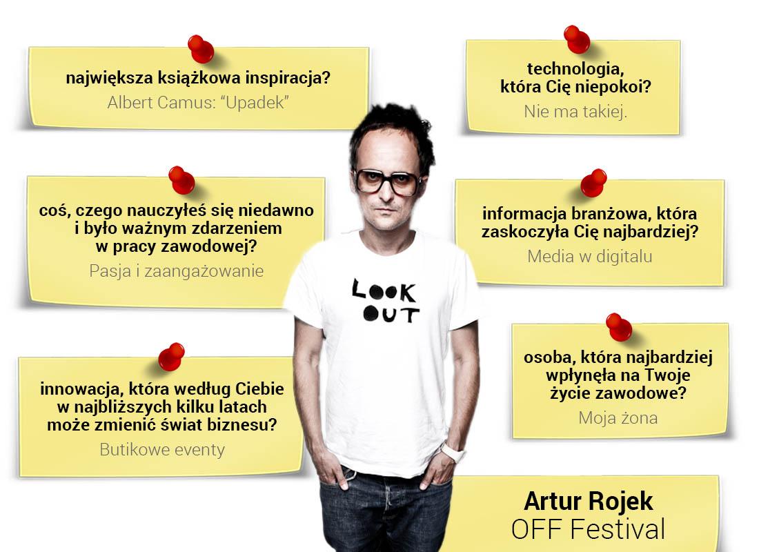 Artur Rojek - organizator OFF Festivalu