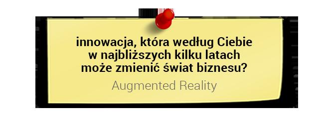 Prof. Dariusz Jemielniak oinnowacjach: Augmented Reality