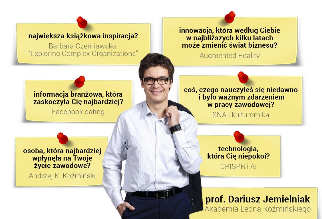 Prof. Dariusz Jemielniak - prelegent XXIII Warsztatów Strategicznych