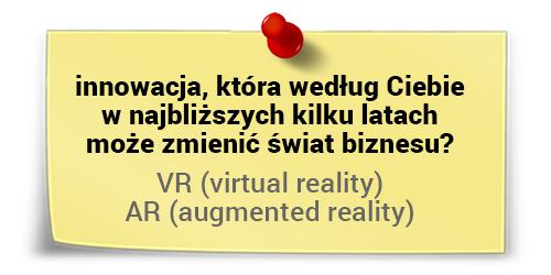 Virtual Reality iAugmented Reality jako wielkie idei przyszłości - Lech c. Król