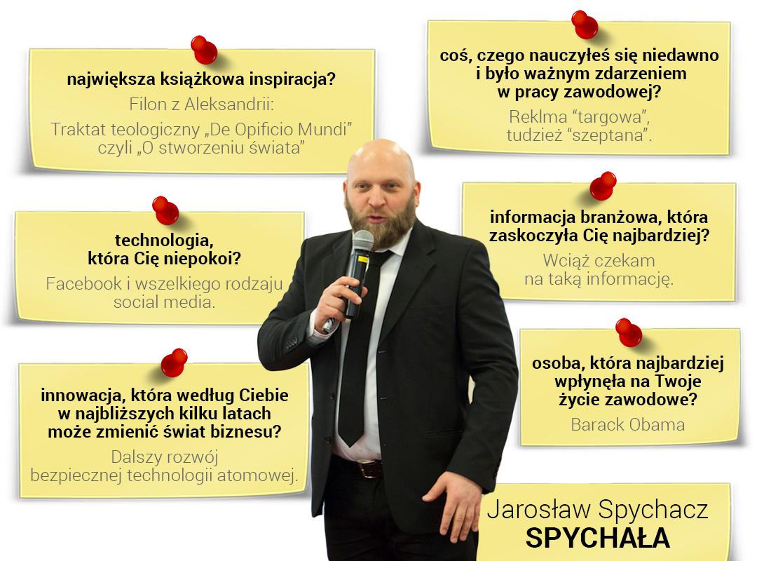 Jarosław Spychała otechnologiach iprzyszłości branży