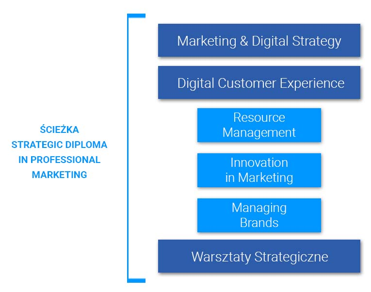 Ścieżka strategiczna programu Diploma in Professional Marketing - CIM